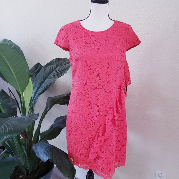 Vince Camuto Dresses & Skirts - Women's Vince Camuto Coral Shift Dress Lace NWT